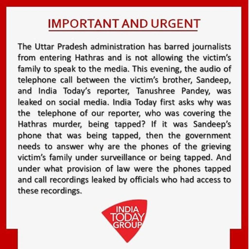 hathras : phone tapping violation of article 21 - Satya Hindi