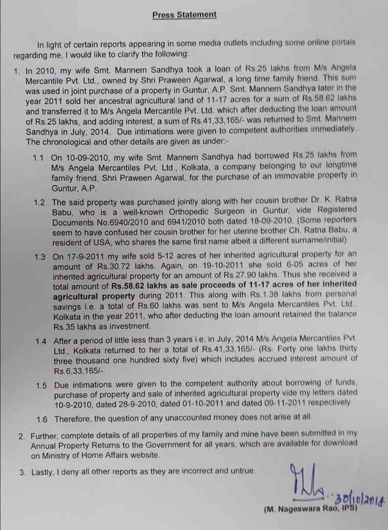 nageshwar rao related to company raided by kolkata police? - Satya Hindi