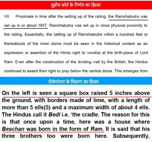 Hindus regarded Ram chabutra as birth place till 1886 - Satya Hindi