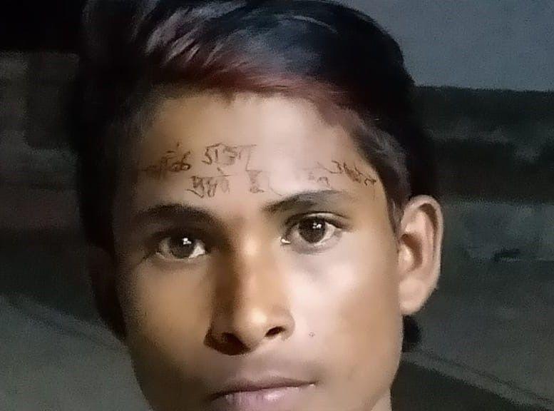 Sub Inspector Amita Agnihotri writing warning on man forehead for violating lockdown - Satya Hindi